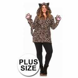 Luipaard jas handschoenen grote maten
