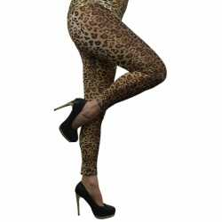 Luipaard legging dames