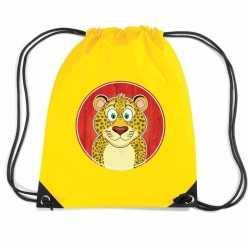 Luipaarden rugtas / gymtas geel kinderen
