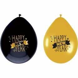 Luxe ballonnen happy new year 6 stuks