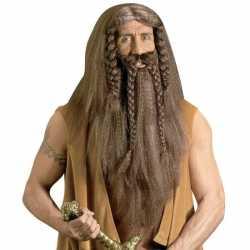 Luxe barbaar pruik baard snor