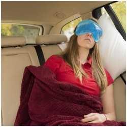 Luxe blauw gel oogmasker/slaapmasker