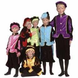 Luxe blauwe Pieten kostuum kinderen