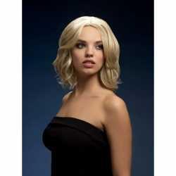 Luxe blonde korte pruik olivia dames