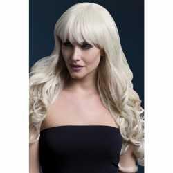 Luxe blonde lange pruik isabelle dames