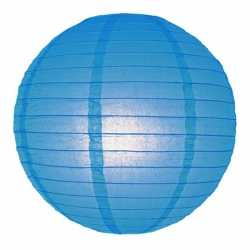 Luxe bol lampion blauw 25