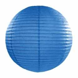 Luxe bol lampion blauw 35
