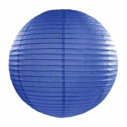 Luxe bol lampion donker blauw 35