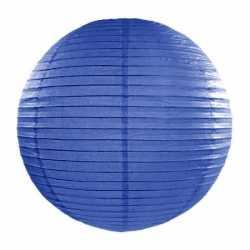 Luxe bol lampion donker blauw 50