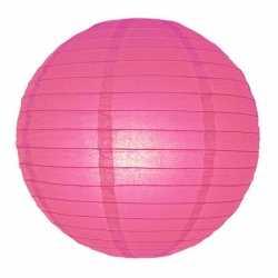 Luxe bol lampion fuchsia roze 25