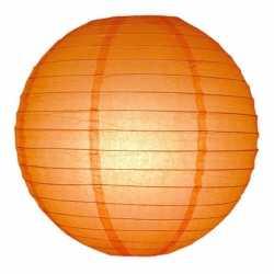 Luxe bol lampion oranje 25
