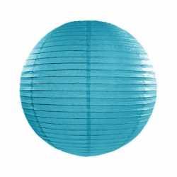 Luxe bol lampion turquoise blauw 25