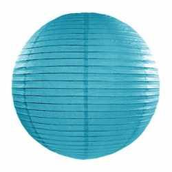 Luxe bol lampion turquoise blauw 35