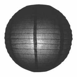 Luxe bol lampion zwart 25