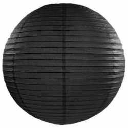 Luxe bol lampion zwart 50