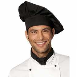 Luxe chefkok koksmuts zwart volwassenen