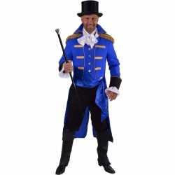 Luxe circus jas blauw heren