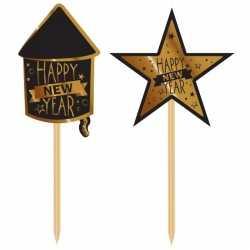 Luxe cocktailprikkers happy new year 20 stuks