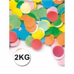 Luxe confetti 2 kilo multicolor brandvertragend