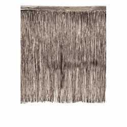 Luxe deurgordijn zilver 245 bij 300