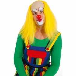 Luxe gele clownspruik