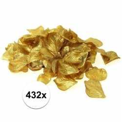 Luxe goudgele rozenblaadjes 432 stuks