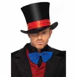 Luxe hoge fluwelen hoed volwassenen