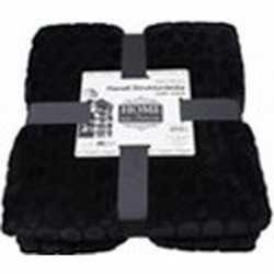 Luxe vachtdeken zwart 150 bij 200