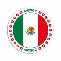 Mexico sticker rond 14,8