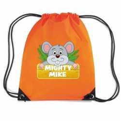 Mighty mike de muis rugtas / gymtas oranje kinderen
