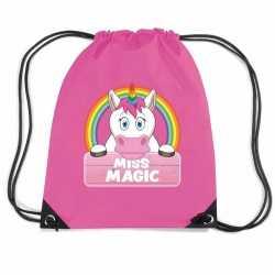 Miss magic eenhoorn rugtas / gymtas roze kinderen
