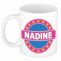 Nadine naam koffie mok / beker 300 ml
