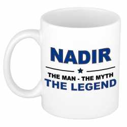 Nadir the man, the myth the legend cadeau koffie mok / thee beker 300 ml