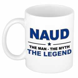 Naud the man, the myth the legend cadeau koffie mok / thee beker 300 ml