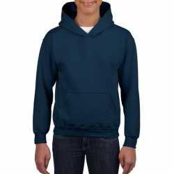 Navy capuchon sweater jongens