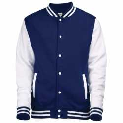 Navy wit college jacket dames