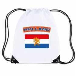 Nederland nylon rugzak wit nederlandse vlag