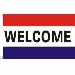 Nederlandse vlag welkom 90 bij 150