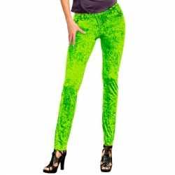 Neon groene jeans legging