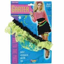 Neon groene kousenband