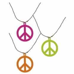 Neon hippie ketting