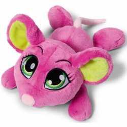 Nici roze knuffel muis 25