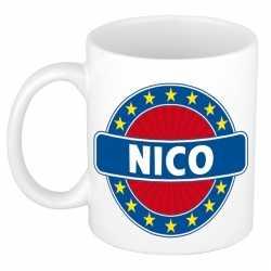 Nico naam koffie mok / beker 300 ml
