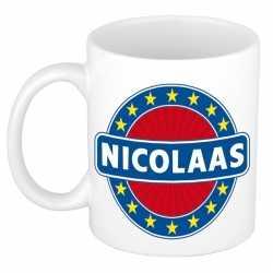 Nicolaas naam koffie mok / beker 300 ml