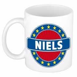 Niels naam koffie mok / beker 300 ml