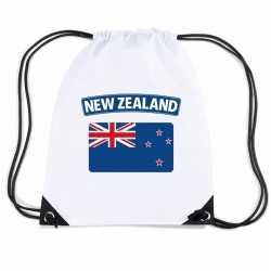 Nieuw zeeland nylon rugzak wit nieuw zeelandse vlag