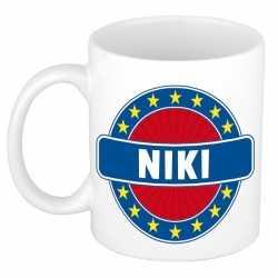 Niki naam koffie mok / beker 300 ml