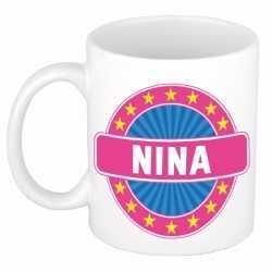 Nina naam koffie mok / beker 300 ml