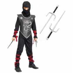 Ninja kostuum maat m dolken kinderen