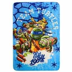 Ninja Turtles fleecedeken blauw